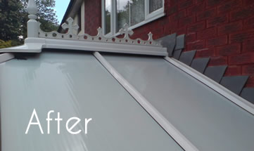 conservatory roof after cleaning